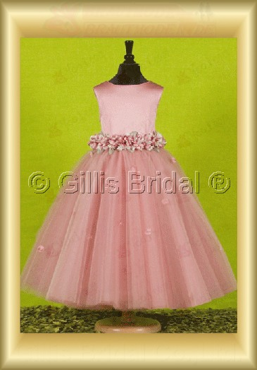 Flower girl Floor-length Gorgeous floor-length Flower waist Handcraft flowers Handmade Flower elegant 100073