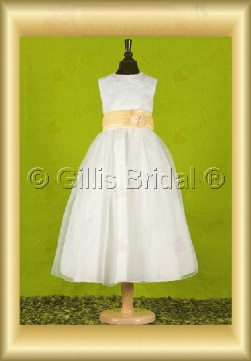 Flower girl Bowknot Bows Gorgeous floor-length Flower Fashion 100074