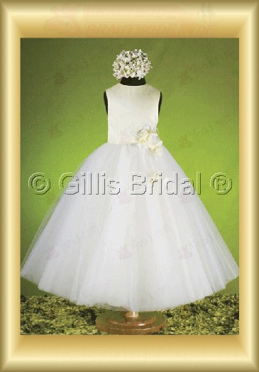 Flower girl Gorgeous floor-length Handcraft flowers Handmade Flower Fashion Bowknot Bows 100076