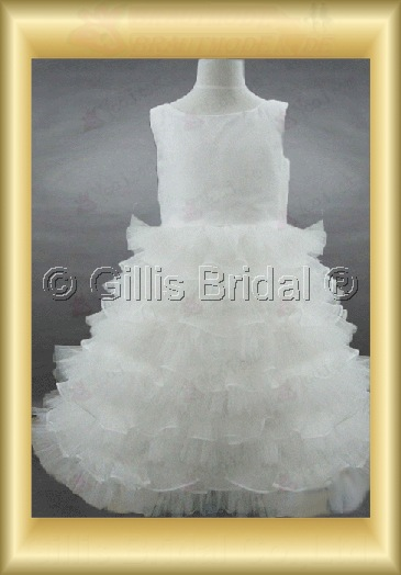 Flower girl Gorgeous floor-length Fold Bubble Exquisite 100423