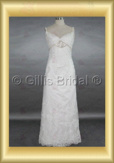wedding dress bridal gown evening Spaghetti strap Gorgeous floor-length Exquisite 100425