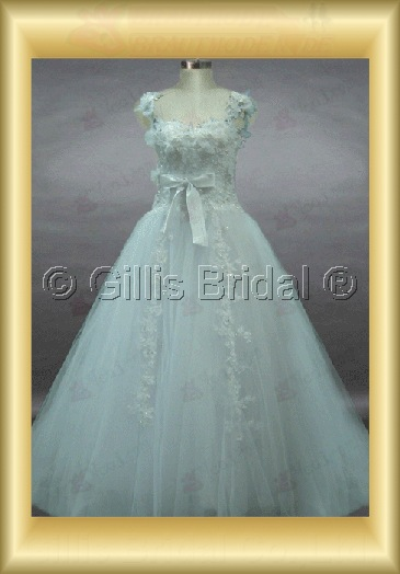 wedding dress bridal gown Spaghetti strap Gorgeous floor-length Exquisite 100428