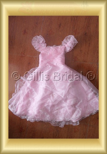 Flower girl Beading embroidery pleated ruffle Fold Exquisite 100448