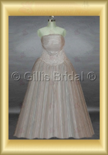 wedding dress bridal gown Beading embroidery Gorgeous floor-length pleated ruffle Fold Exquisite 100521
