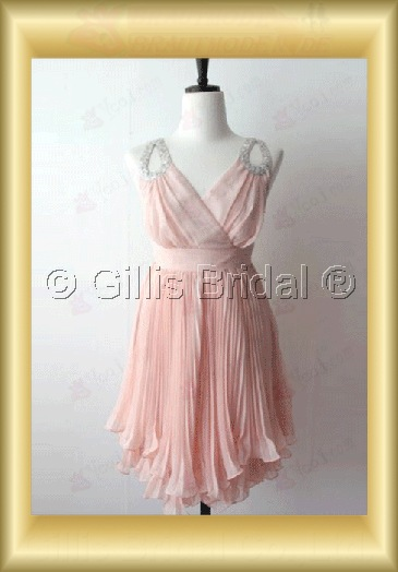 bridesmaid Homecoming Column Spaghetti strap Knee length pleated ruffle Fold Exquisite 100526