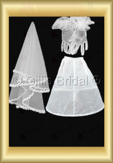 Veil Petticoat Gloves Bridal Accessories Bridal Veils 3863