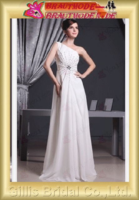 prom dresses Colors As shown in figure White Beading embroidery chiffon Gorgeous floor-length gillis800186