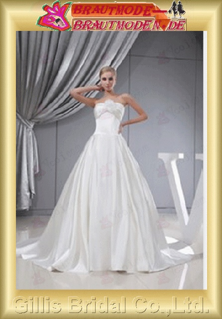 Fold Vertically Draped Handcraft flowers Handmade Flower bandage strapless Monarch Royal A-line Trend Simple Exquisite elegant modest A-line bridal gowns A-line wedding dresses Strapless Wedding Dresses Strapless bridal gowns White gillis800368