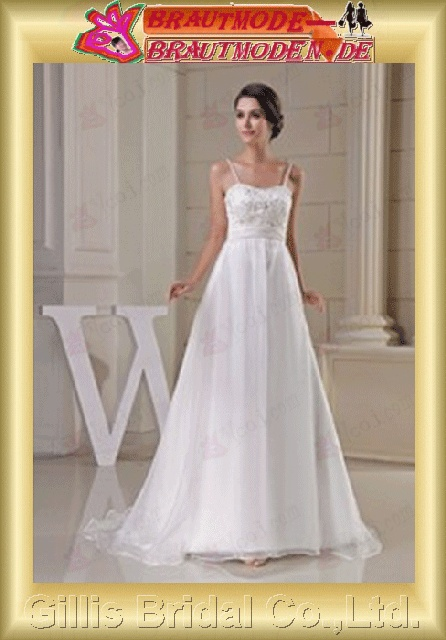 Chiffon pleated ruffle Fold beads Embroidery beaded Beading embroidery Zip Spaghetti Monarch Royal A-line backless Open back Exquisite Fashion modest A-line bridal gowns A-line wedding dresses White gillis800377