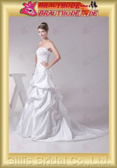 elegant Strapless Wedding Dresses Strapless bridal gowns A-line bridal gowns A-line wedding dresses ruffle White gillis800380