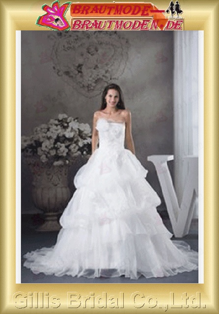modest elegant Strapless Wedding Dresses Strapless bridal gowns A-line bridal gowns A-line wedding dresses White gillis800395