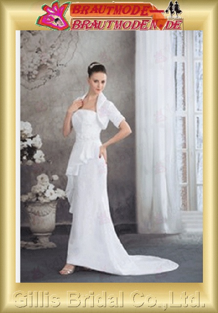 Chiffon pleated ruffle Fold Flouncing floating tablets beads Embroidery beaded Beading embroidery Zip strapless Sweep Brush A-line Simple Exquisite modest elegant elegant A-line bridal gowns A-line wedding dresses Strapless Wedding Dresses gillis800396