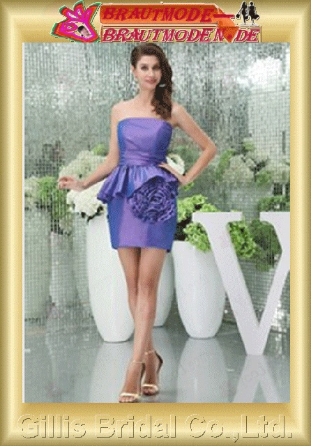 Stretch satin pleated ruffle Fold Vertically Draped Flouncing floating tablets strapless Short dress Knee-length Simple Exquisite elegant modest elegant dresses prom dresses evening dresses prom dress Ball Gown Knee Length ruffle 800565