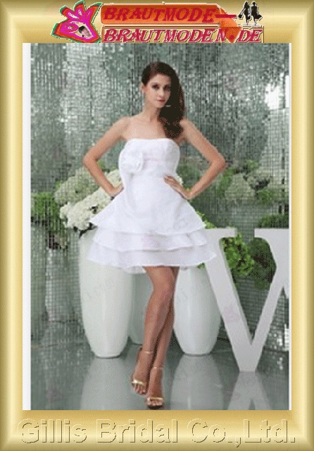dresses evening dresses prom dress Ball Gown Party Dresses Knee Length ruffle White 800574 Gillis bridal Wholesale - Wedding Dress Sold by Gillis Bridal Co., Ltd. gillis800574