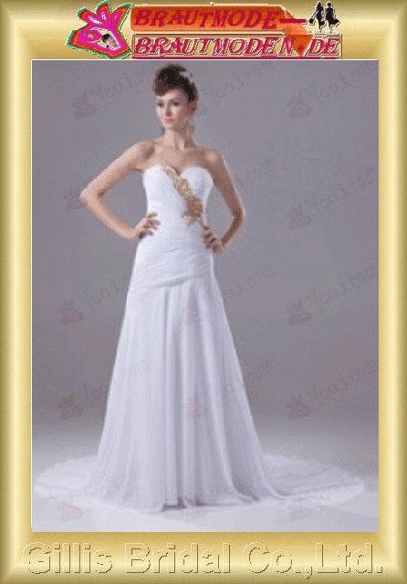 Taffeta pleated ruffle Fold beads Embroidery beaded Beading embroidery beads strapless Monarch Royal backless Open back Exquisite elegant A-line bridal gowns A-line wedding dresses Strapless Wedding Dresses Strapless bridal gowns 801020